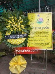 Vòng hoa viếng HLV Lê Thụy Hải tại Hà Đông